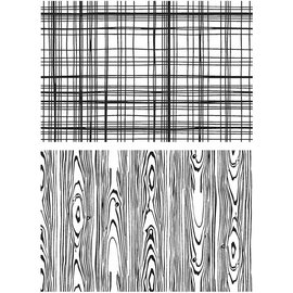 "Tim Holtz Lumberjack - Tim Holtz Cling Stamps 7""X8.5"""