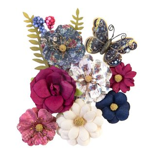PRIMA MARKETING Prima Marketing Mulberry Paper Flowers 12 st