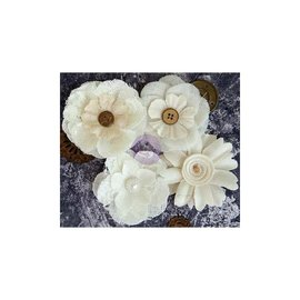 PRIMA MARKETING Finnabair Alterable Fabric Flowers 4/Pkg