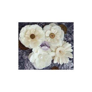 PRIMA MARKETING Finnabair Alterable Fabric Flowers 4/Pkg