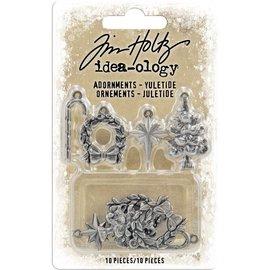Tim Holtz Idea-Ology Antique Nickel Yuletide 10/Pkg