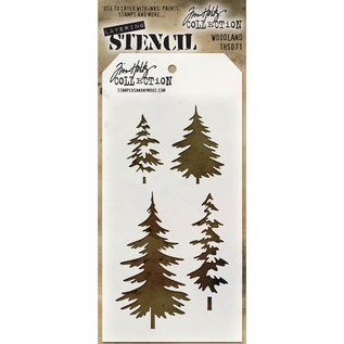 "Tim Holtz Woodland - Tim Holtz Layered Stencil 4.125""X8.5"""