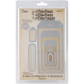 Sizzix Sizzix Framelits Dies By Tim Holtz Tag Collection 8/Pkg