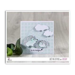 4enscrap Die + Stamp animals hedgehog nature - Snails & Co