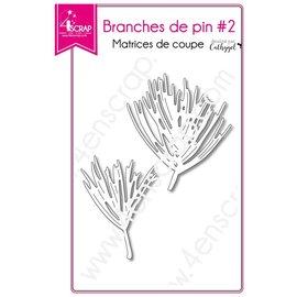4enscrap Die - making Fir Stem Leaf - Pine Branches 2