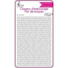 4enscrap Embossing binder - Bricks wall