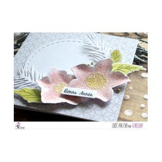 4enscrap Stamp - Flower Leaf Winter - Hellebores