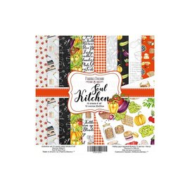 "Double-sided scrapbooking paper set ""Soul Kitchen"""