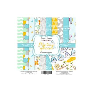 "Double-sided scrapbooking paper set ""My tiny sparrow boy"""