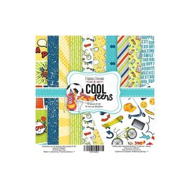 "Double-sided scrapbooking paper set ""Cool teens"""