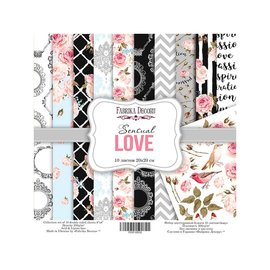 "Double-sided scrapbooking paper set ""Sensual Love"""