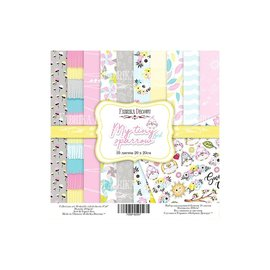 "Double-sided scrapbooking paper set ""My tiny sparrow Girl"""
