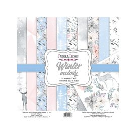 "Double-sided paper set ""Winter Melody"""