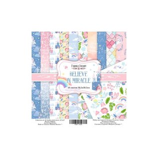 """Double-sided paper set """"Believe in Miracle"""""""