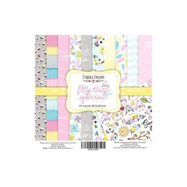 "Fabrika Decoru Double-sided paper set ""My Tiny Sparrow Girl"""