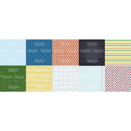 "Fabrika Decoru Double-sided paper set ""cool school"""