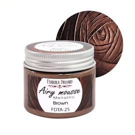 Fabrika Decoru AIRY MOUSSE METALLIC. COLOR BROWN