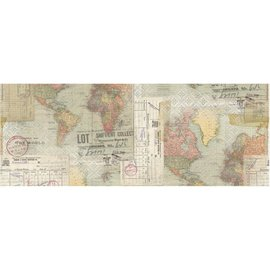 "Tim Holtz Idea-Ology Collage Paper 6""X6yds World"