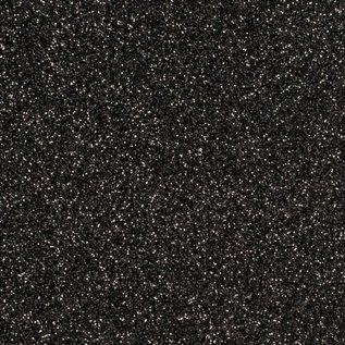 Vaessen Florence • Glitter papier zelfklevend zwart-zilver 30.5x30.5 cm
