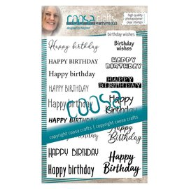 CoosaCrafts COOSA Crafts • Clear stempel #12 Birthday wishes (EN)