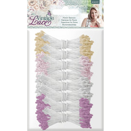 Vintage Lace - Bloemen Meeldraden a 400 stuks Meeldraden - Metallics