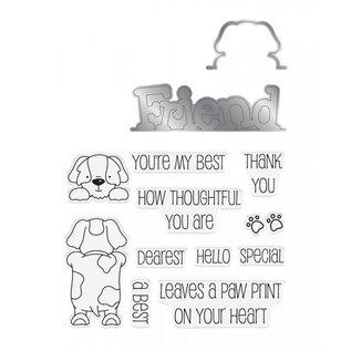 Gemini Peek-A-Boo Clearstamp & Snijmal - Dog