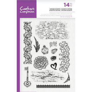 Crafters Companion Clearstamp - Vintage Accents