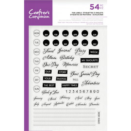 Crafters Companion Clearstamp - Tab Labels