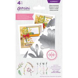 Gemini Gemini Elements - Dubbelzijdige snijmal - Sprigs & Blossoms