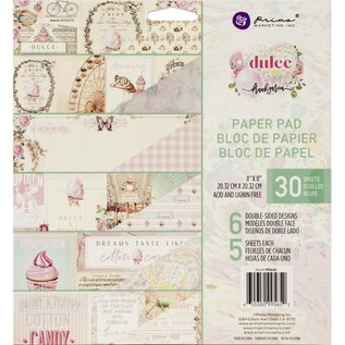 "PRIMA MARKETING ""Dulce"" Double-Sided Paper Pad 8""X8"" 30/st"