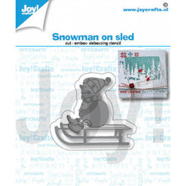 Joy! crafts Sneeuwpop op slee