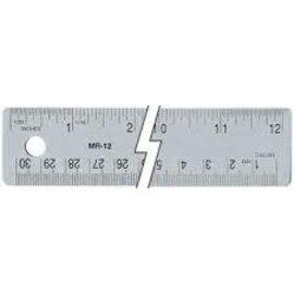 meetlat roestvrij staal cm - inch