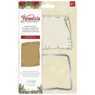 Poinsettia Perfection - Clearstamp&snijmal - Traditional Scroll