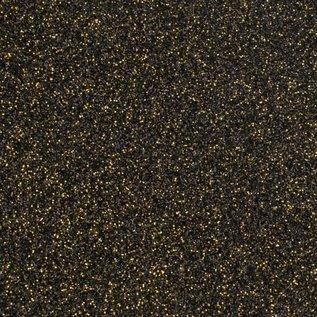 Florence • Glitter papier zelfklevend zwart-goud