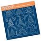 Groovi BARBARA'S CHRISTMAS TREE SAMPLER A4 SQUARE GROOVI PLATE