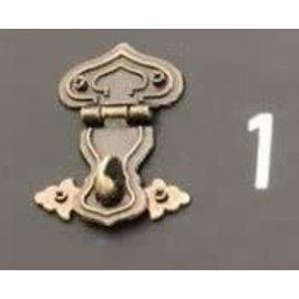 Cart 'n Scrap Art Bronskleurig metalen slotje n°1