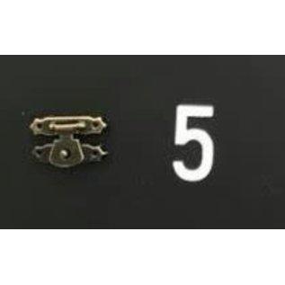 Cart 'n Scrap Art Bronskleurig metalen slotje n°5