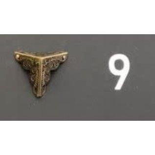 Cart 'n Scrap Art Bronskleurige metalen hoekjes n°9 - 4stuks