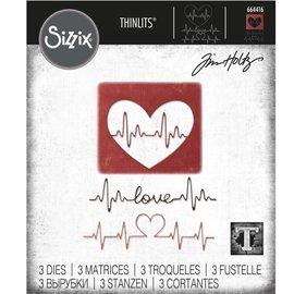 Tim Holtz Tim Holtz Sizzix HEARTBEAT Thinlits Die Set