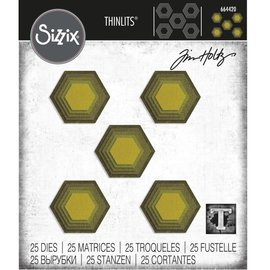 Tim Holtz Tim Holtz Sizzix STACKED TILES HEXAGONS Thinlits Die Set