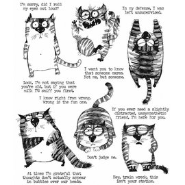 Tim Holtz Tim Holtz Cling Stamp Snarky Cats