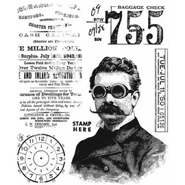 Tim Holtz Tim Holtz Cling stamp The Professor 2