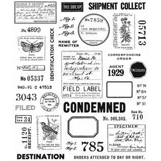 Tim Holtz Tim Holtz Cling stamp Field Notes