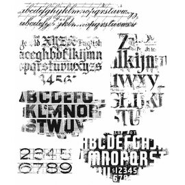 Tim Holtz Tim Holtz Cling Stamp Faded Type