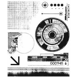 Tim Holtz Tim Holtz Cling Stamp Glitch1