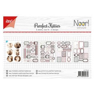 Joy! crafts Noor - Design Purrfect Kitties A4 knipvel/labelvel 5 sheets