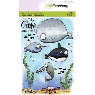 CraftEmotions A6 - Ocean 1 Carla Creaties