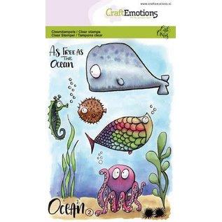 CraftEmotions A6 - Ocean 2 Carla Creaties