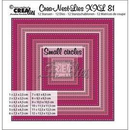 CreaLies XXL no 81 vierkanten -kleine gaatjes  13,5x13,5cm