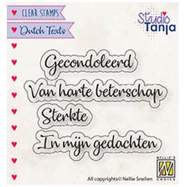 Nellie's choice Dutch texts, Gecondoleerd etc..